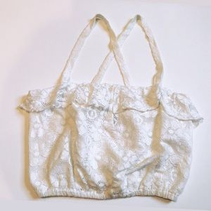 ☼4 for 20$☼Lace Crop top with criss-cross Straps